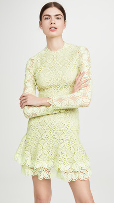 Jonathan Simkhai Guipure Lace Long Sleeve Mini Dress