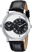 August Steiner Men's AS8146SSB Analog Display Swiss Quartz Black Watch