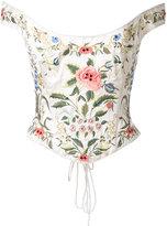 Eavis & Brown bardot embroidered corset
