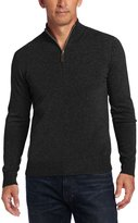 Williams Cashmere Men's 100% Cashmere Zip Mock Neck Sweater