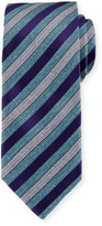 Brioni Woven Heathered-Stripe Silk Tie