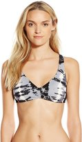 Lucky Brand Women's Half Moon Tie Dye Ladder-Back Bikini Top with Removable Cups
