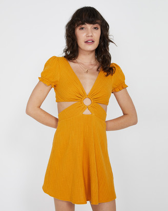 Subtitled Kendal Ring Textured Dress