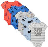 Rosie Pope Print Bodysuit - Pack of 5 (Baby Boys)