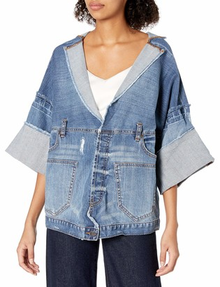 True Religion Women's Deconstructed Indigo Jacket