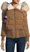 Peuterey Hotas Zip-Front Puffer Bomber Jacket w/ Pompom