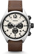 Fossil Men's Flight CH2835 Brown Calf Skin Quartz Watch with Dial