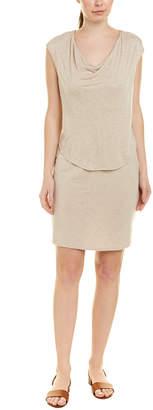 Heather H By Bordeaux Twisted Back Silk-Trim Blouson Dress