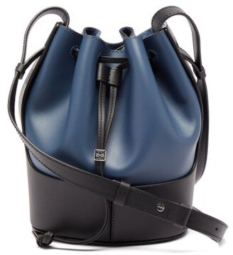 Loewe Balloon Small Leather Shoulder Bag - Navy Multi