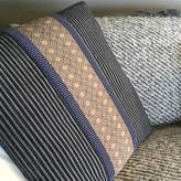 TYMO London Vintage Stripe Square Quilted Cushion Cover