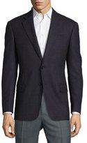 Armani Collezioni G-Line Birdseye Wool Two-Button Sport Coat, Cranberry