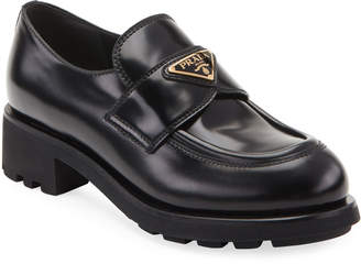 Prada Moccasin Creeper Chunky Loafers