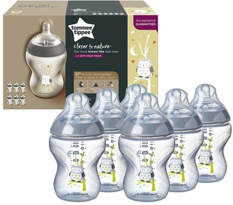 Tommee Tippee Closer to Nature 6 Piece Decorated Bottles Ollie the Owl