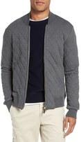 Eleventy Quilted Zip Sweatshirt Jacket