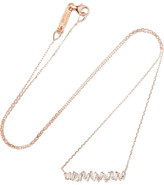Suzanne Kalan 18-karat Rose Gold Diamond Necklace - one size