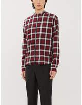 The Kooples Check-print cotton-blend jacket