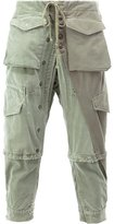 Greg Lauren - cargo cropped trousers - men - Cotton - 2