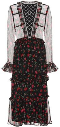 Dodo Bar Or Embellished chiffon dress