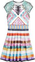 Mary Katrantzou Printed Dress with Sequins