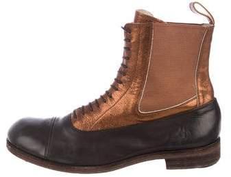 Number Nine Number (N)ine Metallic Chelsea Boots
