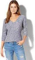 New York & Co. V-Neck Dolman Sweater