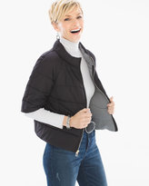 Chico's Fashion Puffer Jacket in Black
