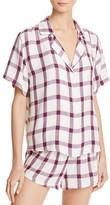 Rails Plaid Sleep Shirt and Shorts Pajama Set