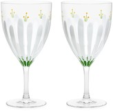 Tory Burch Spring Meadow 2-Piece Wine Glass Set