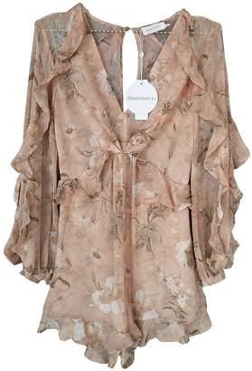 Zimmermann \N Beige Silk Shorts