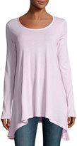 Splendid Long-Sleeve Asymmetric-Hem Tunic, Vintage Bluse