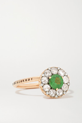 Selim Mouzannar 18-karat Rose Gold, Diamond And Tsavorite Ring - 52