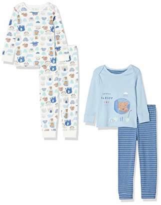 Mothercare Baby IO B Animal Friends 2PK PJ Pyjama Sets,Tiny (Size:50)