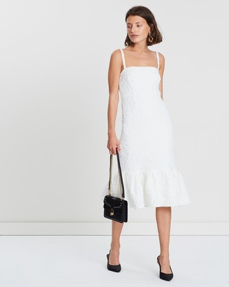 FRIEND of AUDREY - Women's White Midi Dresses - Allix Textured Midi Dress - Size One Size, 6 at The Iconic