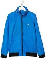 TEEN zipped logo jacket