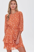 Thumbnail for your product : Forever 21 Floral Chiffon Mini Dress