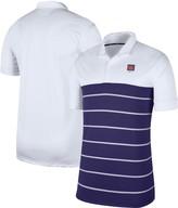 Nike Men's White/Purple Clemson Tigers Striped Polo