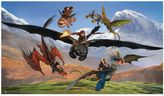 "Bed Bath & Beyond ""How to Train Your Dragon"" 6-Foot x 10.5-Foot Chair Rail Prepasted Mural"