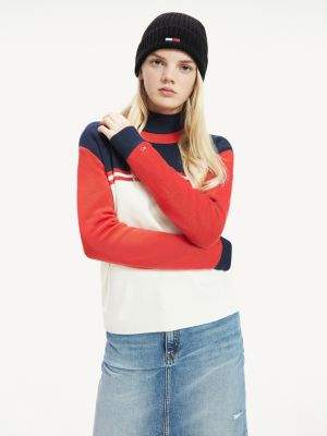 Tommy Hilfiger Colour-Blocked Crew Neck Jumper
