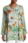 johnny was passion flower cotton tunic multi