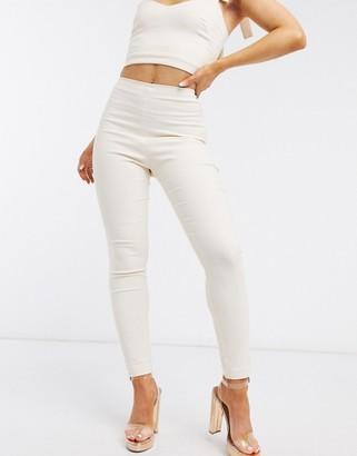 Vesper skinny trouser co ord in latte