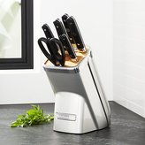 Crate & Barrel KitchenAid ® Professional Series 7-Piece Sugar Pearl Silver Knife Block Set