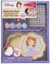 Melissa & Doug Sofia the First Decorate-Your-Own Wooden Flower Chest Toy