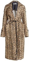 Thumbnail for your product : Victoria Beckham Leopard-Print Patch Pocket Trench Coat
