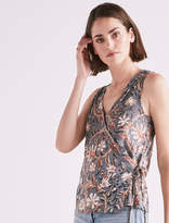 Lucky Brand Floral Wrap Tank