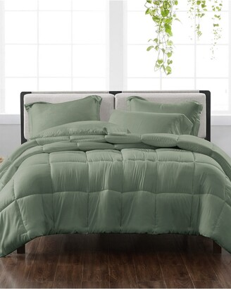 Cannon Solid Green 3Pc Comforter Set