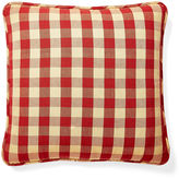 French Laundry Home Buffalo 20x20 Cotton Pillow, Red/Gold