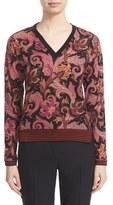 Etro Women's Wool Blend V-Neck Top
