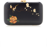 Silvia Furmanovich Marquetry Black Bird and Rose Clutch