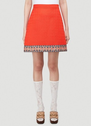 Gucci Jacquard Hem Skirt