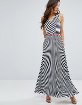 Oasis Stripe Maxi Dress